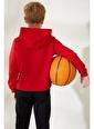DeFacto Erkek Çocuk NBA Lisanslı Sweatshirt Kırmızı